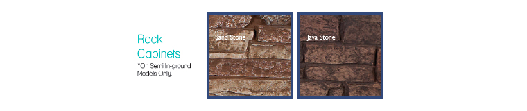 Rock Cabinet Colours for semi-in-ground versions